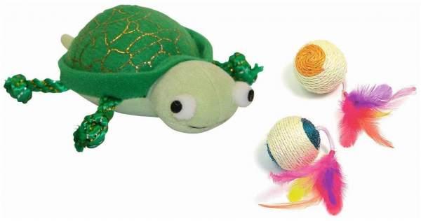 XXL Sisal Spielball + Katzenspiel- zeug Schildkröte 11 cm