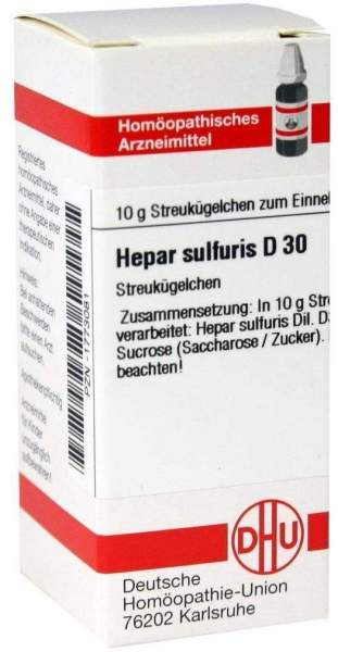 Hepar Sulfuris D30 Dhu 10 G Globuli