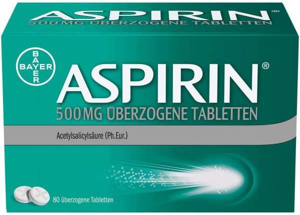 Aspirin 500 mg 80 überzogene Tabletten