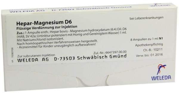Hepar-Magnesium D 6 Weleda 8 x 1 ml Ampullen