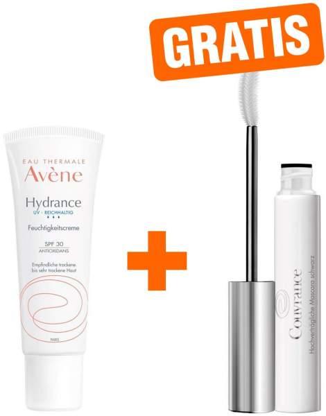 Avene Hydrance UV reichhaltig Feuchtigkeitscreme SPF 30 40 ml + gratis Couvrance Mascara schwarz 3 ml