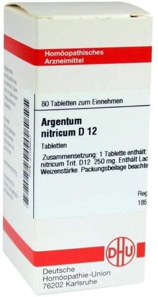 Argentum Nitricum D12 80 Tabletten