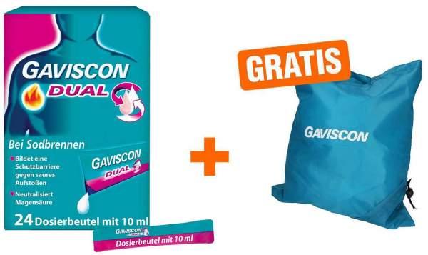 Gaviscon Dual 500 mg-213-mg-325 mg Suspension 24 x 10 ml + gratis Einkaufstasche