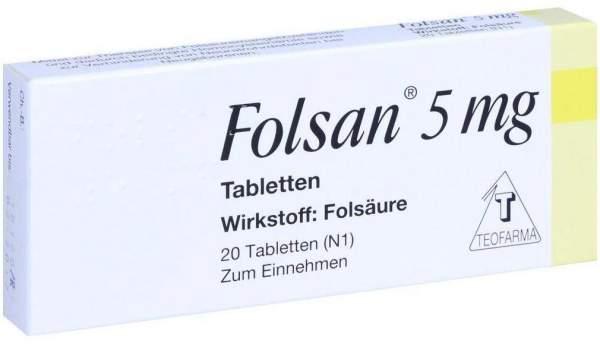 Folsan 5 mg 20 Tabletten