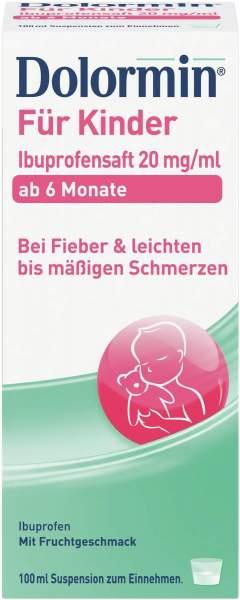 Dolormin Für Kinder 100 ml Ibuprofensaft 20 mg Je ml