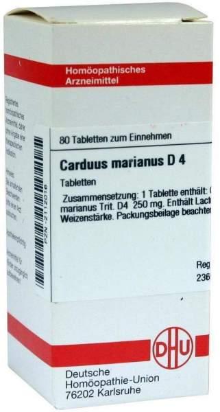 Carduus Marianus D 4 80 Tabletten