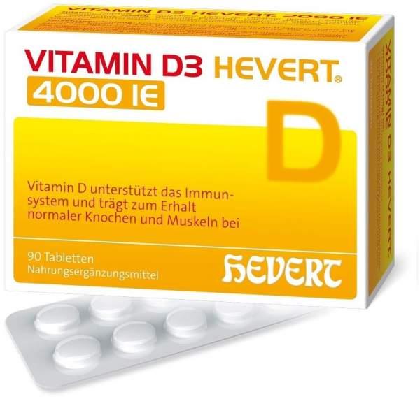 Vitamin D3 Hevert 4.000 I.E. 90 Tabletten