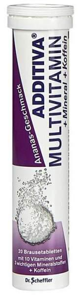Additiva Multivitamin + Mineral + Coffein 20 Brausetabletten