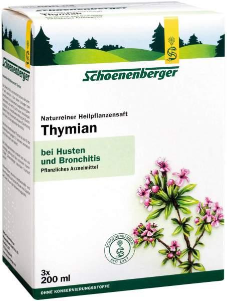 Thymian Saft Schönenberger Heilpflanzensäfte 3 X 200 ml Saft