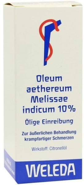 Weleda Oleum Aethereum Melissae Indicum 10%