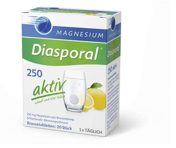 Magnesium Diasporal 250 Aktiv 20 Brausetabletten
