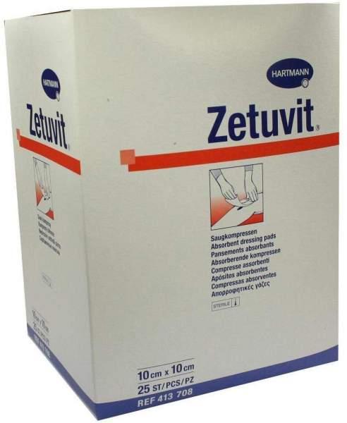 Zetuvit Saugkompresse Steril 10 X 10 cm 25 Kompressen