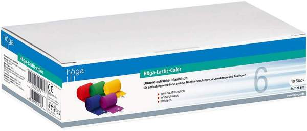 Höga Lastic Color Binde 6 cm X 5 M 10 Binden