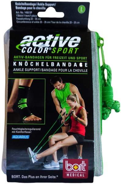 Bort Activecolor Sport Knöchelbandage L Schwarz Grün 1 Stück