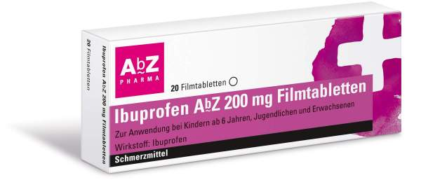 Ibuprofen Abz 200mg 20 Filmtabletten