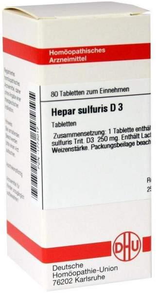 Hepar Sulfuris D3 Dhu 80 Tabletten