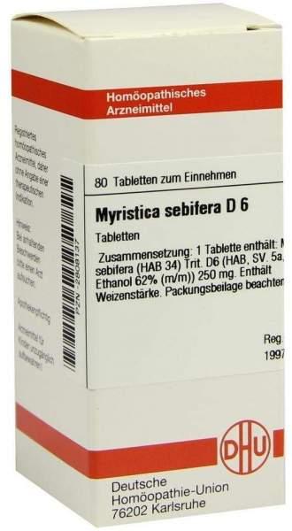 Myristica Sebifera D6 80 Tabletten