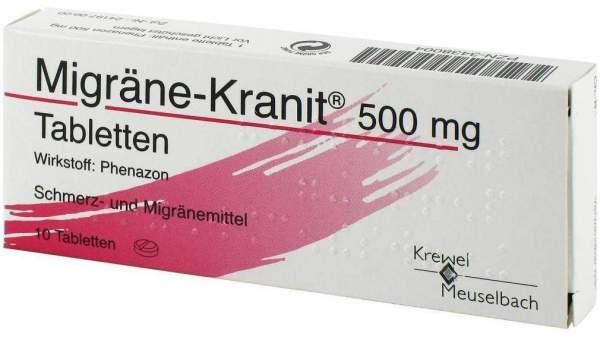 Migräne Kranit 500 mg 10 Tabletten