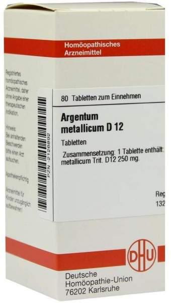 Argentum Metallicum D 12 Tabletten
