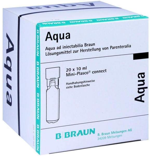 Aqua Ad Injectabilia Miniplasco Connect Ampullen 20 X 10 ml