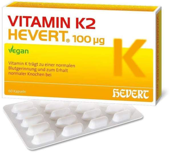 Vitamin K2 Hevert 100 µg 60 Kapseln