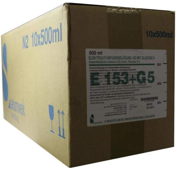 Elektrolyt Infusions-Lösung 153 Mit Glucose 5 10 X 500 Ml...