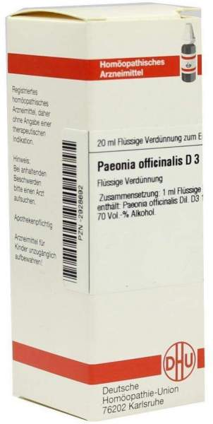 Paeonia Officinalis D3 Dilution 20 ml Dilution