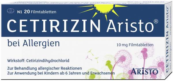 Cetirizin Aristo bei Allergien 10 mg Filmtabletten 20...