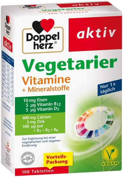 Doppelherz Vegetarier Vitamine + Mineralstoffe 100 Tabletten