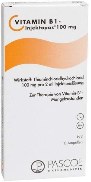 Vitamin B1 Injektopas 100 mg Injektionsl 10 X 2 ml