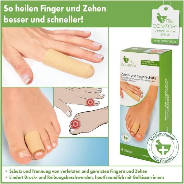 Vital Comfort Finger- und Zehenschutz, je 2 Stück