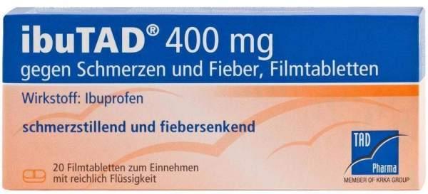 Ibutad 400 mg Gegen Schmerzen und Fieber 20 Filmtabletten