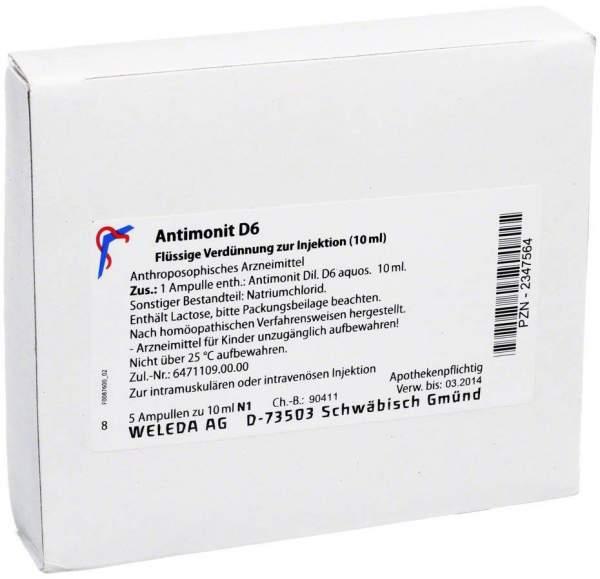 Weleda Antimonit D6 5 X 10 ml Ampulen