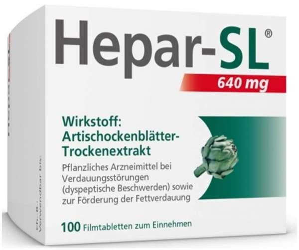 Hepar SL 640 mg 100 Filmtabletten