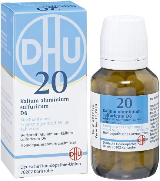 Biochemie DHU 20 Kalium aluminum sulfuricum D6 200 Tabletten