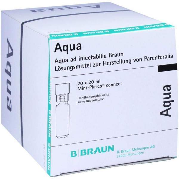 Aqua Ad Injectabilia Miniplasco Connect Ampullen 20 X 20 ml
