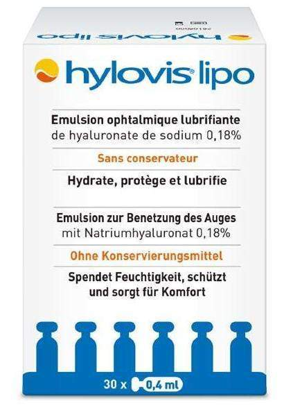 Hylovis Lipo Augentropfen 30 x 0,4 ml Pipetten