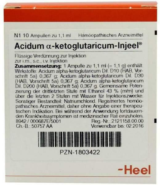 Acidum Alpha Ketoglutaricum Injeel 1,1 ml 10 Ampullen
