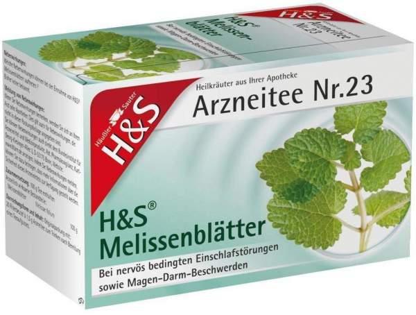 H & S Melissentee 20 Filterbeutel