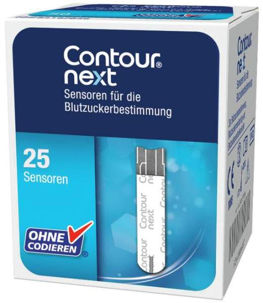 Contour Next Sensoren 25 Teststreifen