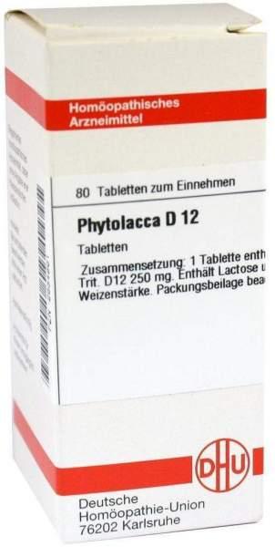 Phytolacca D 12 Tabletten