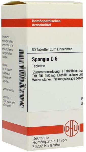 Spongia D6 Tabletten 80 Tabletten