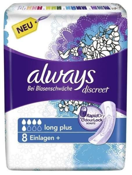 Always discreet Inkontinenz 8 Binden long plus