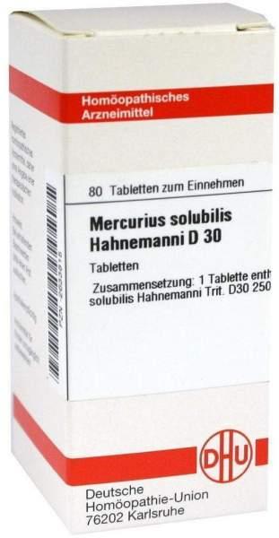 Mercurius Solubilis D30 Tabletten Hahnemanni 80 Tabletten