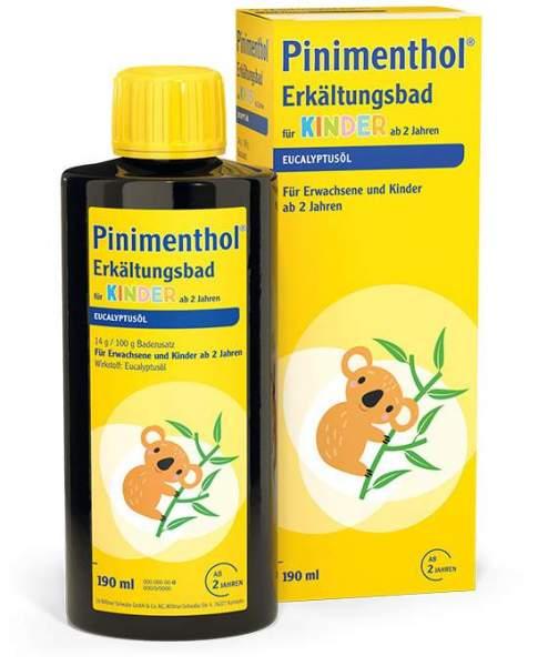 Pinimenthol 190 ml Erkältungsbad für Kinder ab 2 Jahren