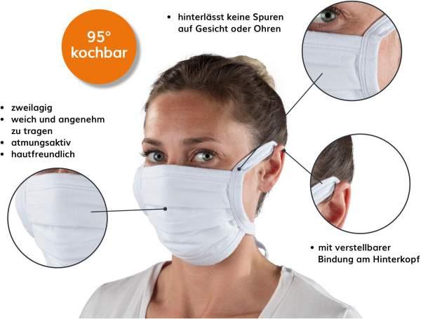 Stoffmaske (waschbar) zur Mund-Nasen-Bedeckung von ERGOBIONIK