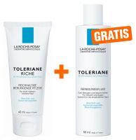 La Roche Posay Toleriane reichh. Creme 40ml & La Roche Posay Reinigungs Fluid 50ml Mini