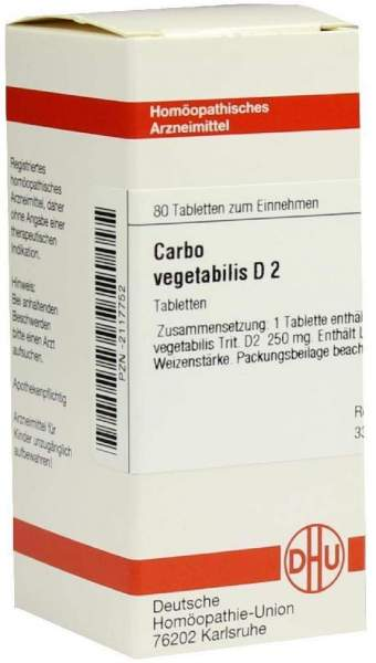 Carbo Vegetabilis D2 80 Tabletten