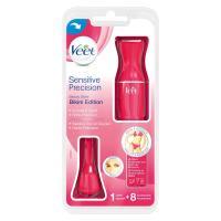 Veet Sensitive Precision Beauty Styler Pink zusätzliche Styling-Schablonen + Kosmetiktasche