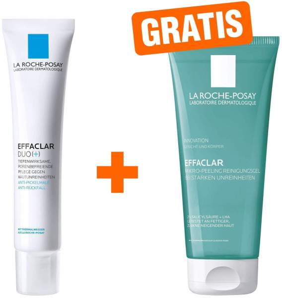 La Roche Posay Effaclar Duo+ Creme 40 ml + gratis Mikropeeling Gel 50 ml